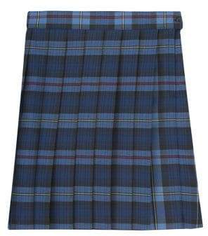 French Toast Girl's Plus Plaid Pleated Skirt