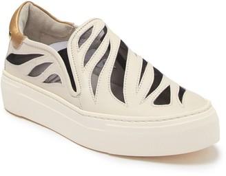 Attilio Giusti Leombruni Lasercut Slip-On Leather Sneaker