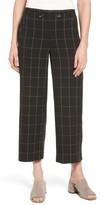 Women's Halogen Plaid Wide Leg Crop Pants