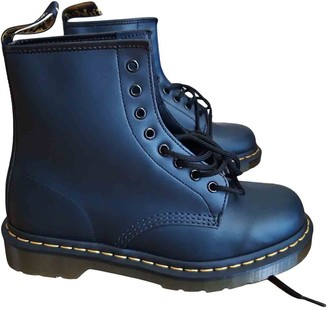 Dr. Martens 1460 Pascal (8 eye) Blue Leather Ankle boots