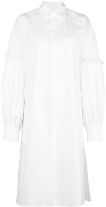 Yohji Yamamoto layered long sleeved shirt