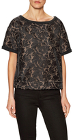 Tracy Reese Lace Solid Panel Sweatshirt