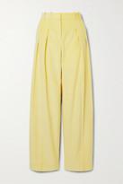 Victoria Victoria Beckham Victoria, Victoria Beckham Pleated Cotton-corduroy Wide-leg Pants
