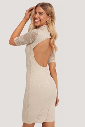 Chloé B X NA-KD Open Back Lace Dress