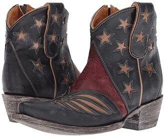 Old Gringo United Short (Blue/Red) Cowboy Boots