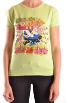 Frankie Morello Women's Green Cotton T-shirt.