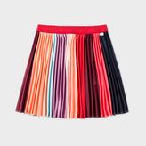 Paul Smith Girls' 7+ Years 'Sunray Stripe' Pleated Skirt With Glittered Waistband