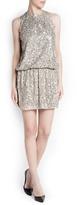 MANGO Outlet Open Back Sequined Dress
