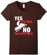 Lego Women's Snowmobile Yes Its Fast No You Cant Ride It T-Shirt Medium