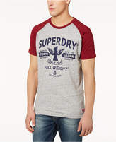 Superdry Men's Full Weight Logo-Print Raglan-Sleeve T-Shirt