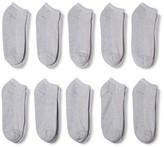 Gildan Men's P10 low cut Casual socks Grey 6-12