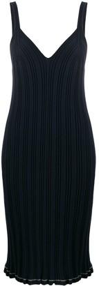 MM6 MAISON MARGIELA Ribbed Knit Midi Dress
