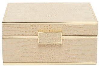 AERIN Classic Small Leather Jewellery Box - Gold
