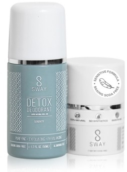 Sway Natural Detox Deodorant and Dusting Powder Set - Serenity Sensitive Formula
