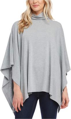 Karen Kane Funnel-Neck Handkerchief-Hem Sweater