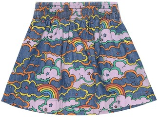 Stella McCartney Kids Printed denim skirt