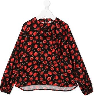 No21 Kids Cherry Print Long-Sleeve Blouse