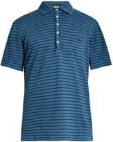 Massimo Alba Wembley striped linen polo shirt
