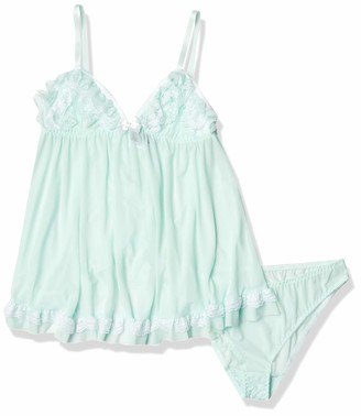 Cinema Etoile Women's Vera Soft Cup Mesh Baby Doll with Ruffle
