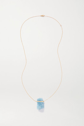 JIA JIA 14-karat Gold Aquamarine Necklace - Blue