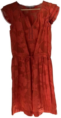 Gerard Darel \N Orange Silk Dress for Women