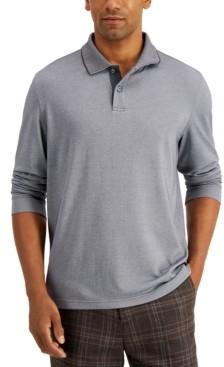Tasso Elba Men's Long Sleeve Polo, Created for Macy's