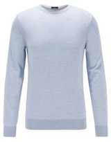 HUGO BOSS - Knitted Sweater In Pure Silk - Light Blue