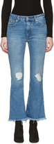 MSGM Blue Flared Jeans