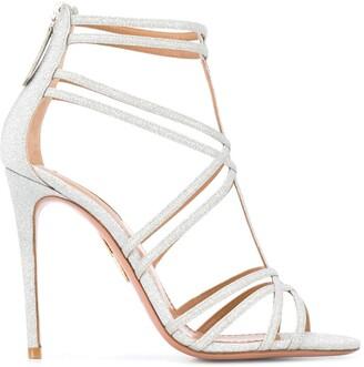 Aquazzura Strappy Glittery Sandals
