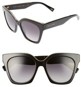 Marc Jacobs Women's 52Mm Square Sunglasses - Black