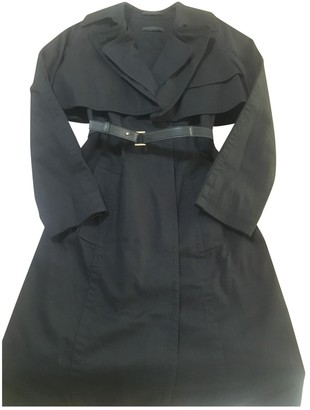 The Row Black Cotton Trench Coat for Women