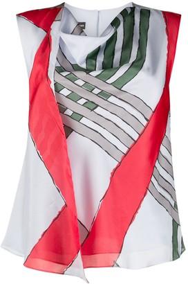 Emporio Armani Stripe Print Blouse