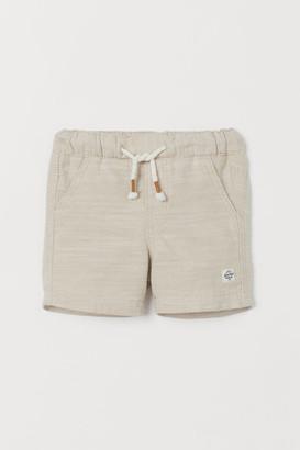 H&M Woven Shorts - Beige