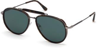 Tom Ford Men's Tripp Havana Aviator Sunglasses