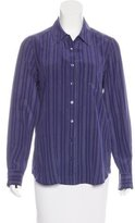 Equipment Silk Striped Button-Up w/ Tags