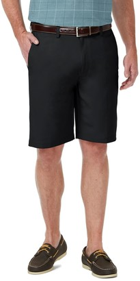 Haggar Men's Cool 18 PRO Straight-Fit Expandable-Waist Stretch Performance Shorts