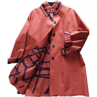 Hermes Orange Cotton Trench coats