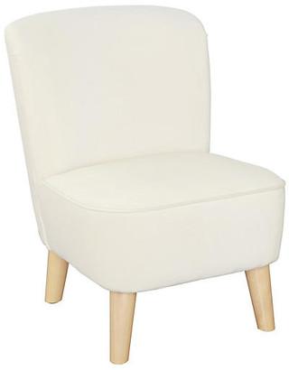 One Kings Lane June Kids' Chair - Almond - frame, natural; upholstery, almond