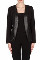 Joseph Ribkoff Leatherette Trimmed Jacket