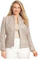 Kasper Plus Size Jacket, Spacedyed Open