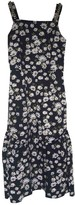 Mother of Pearl Navy Cotton Dress for Women