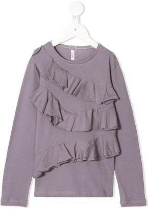 Il Gufo Ruffles Long-Sleeve T-Shirt