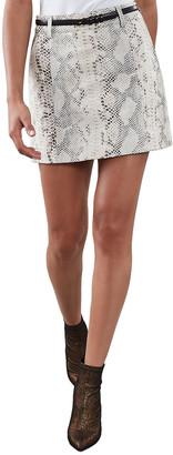 Reiss Kora Leather Skirt