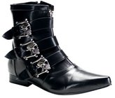 Demonia Mens Skull Biker Gothic Ankle Boot