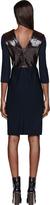 Roksanda Ilincic Navy Patent Leather-Paneled Cedric Dress