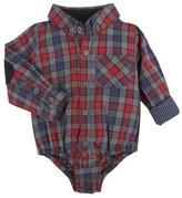 Andy & Evan Infant Boy's Check Flannel Bodysuit