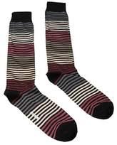 Missoni Gm00cmu5233 0002 Black/cream Knee Length Socks.