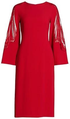 Alberta Ferretti Lace Cady Cocktail Dress