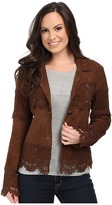 Scully Lizina Soft Suede Crochet Inset Jacket