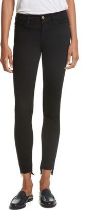 Frame Le Skinny de Jeanne Raw Stagger Hem Jeans